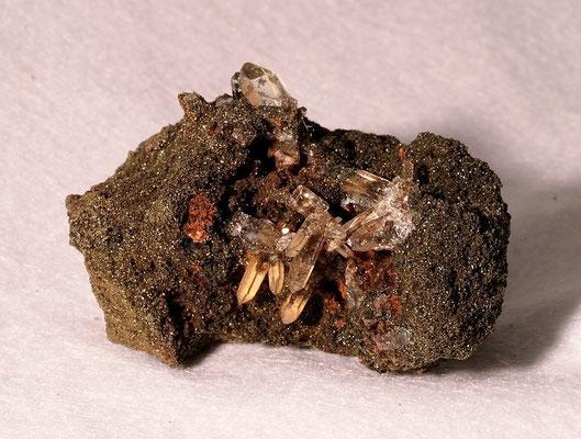 Bergkristall in Chlorit