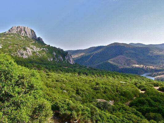 Vista del valle del Guadiato de Espiel.