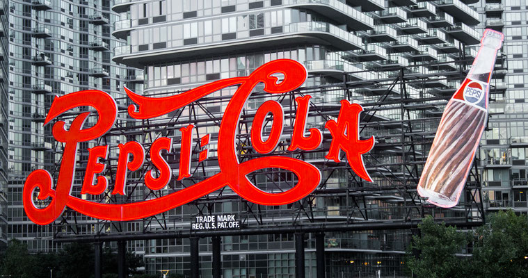 Pepsi Cola Sign - Long Island NYC, USA