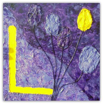 L    wie   Lila und Lavendel mit Luftballons