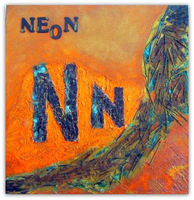 N    wie   Neonfarben mit Nägeln