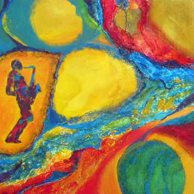 J    wie   Jazz und Jamaikafarben