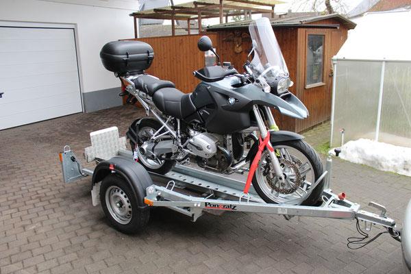 motorradanh nger f r 1 motorrad roller lang wohnmobile. Black Bedroom Furniture Sets. Home Design Ideas