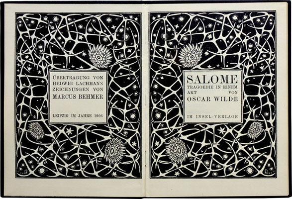 Titelblatt aus: Oscar Wilde: Salome. Illustriert von Marcus Behmer. Leipzig: Insel 1903. © Prof. Ulrich Schulz, Karlsruhe.