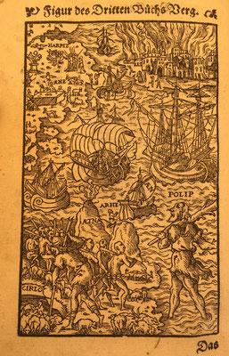 Holzschnitt aus: Vergil: Aeneas. Übersetzt von Thomas Murner. Frankfurt/M 1559.