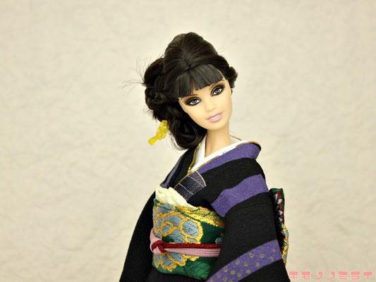 Barbie kimono,kimono doll,silk stone kimono