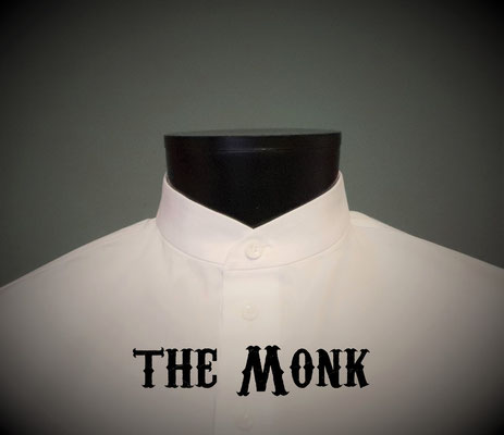The Monk: Men's dress shirt with mandarin monk-style collar, Victorian Steampunk barberstyle - tailormade