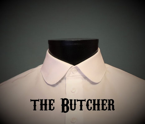 The Butcher: Men's dress shirt with club collar, Victorian Steampunk barberstyle - tailormade