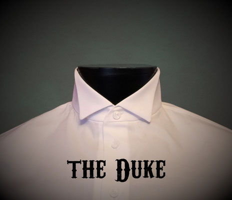 The Duke: Men's dress shirt with wing tip collar, Victorian Steampunk barberstyle - tailormade