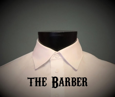 The Barber: Men's dress shirt with windsor spread collar, Victorian Steampunk barberstyle - tailormade