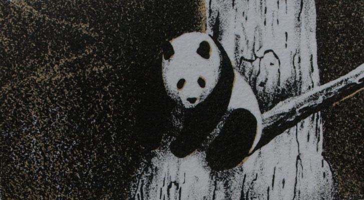 Panda 7x12cm, litho oplage 30