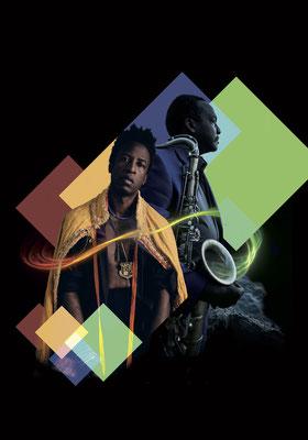 David Murray ft. Saul Williams - _Blues for Memo_ Tour _copyright Erwan Levigoureux JPG