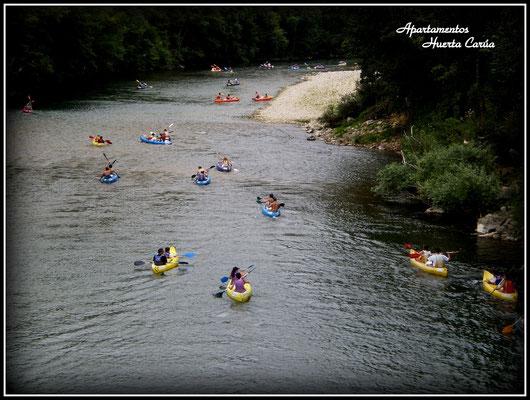Descenso Río Sella en canoas.