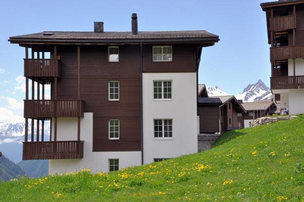 Alpine Village Whg. 6.6, links, 2. Stock, im Sommer