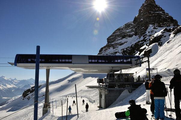 Bergstation der Gletscherbahn zum Hockenhorngrat