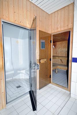 Lauchernalp, Alpine Village, Wohnung 6.6, Sauna und Dampfbad im Hauptgebäude