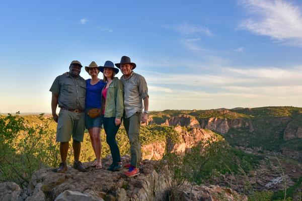 Mit unserem Guide Wiseman und Jay
