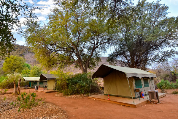 Camp vom Nyala Land Walking Trail