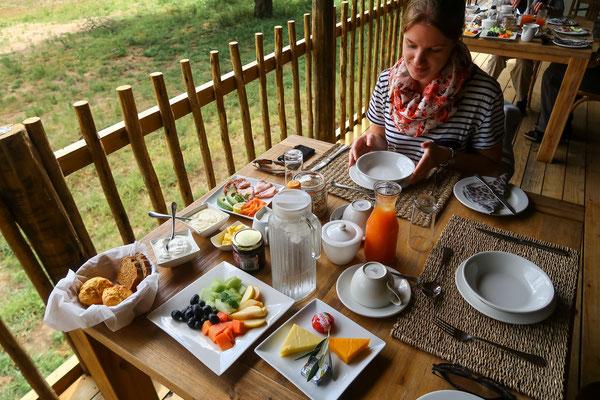 Abschieds-Frühstück bevor es wieder zurück in den Krüger geht