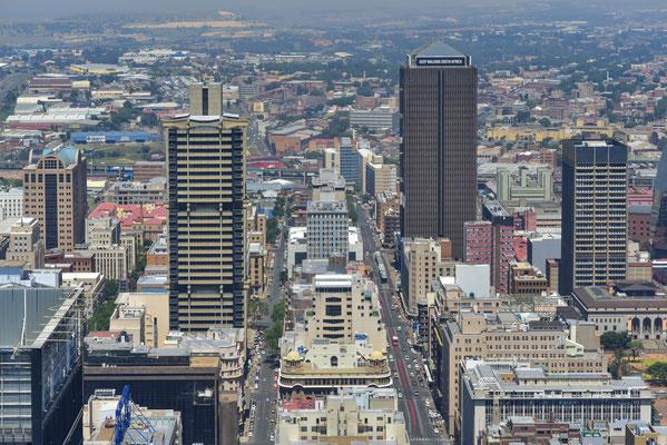 Ausblick vom Top of Africa auf Joburg