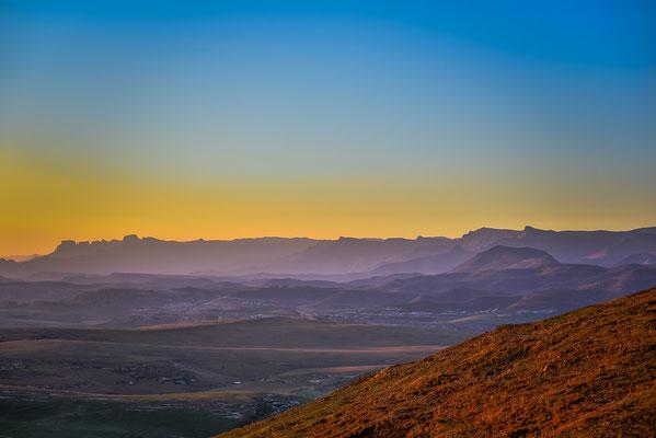 Sicht auf die Drakensberge