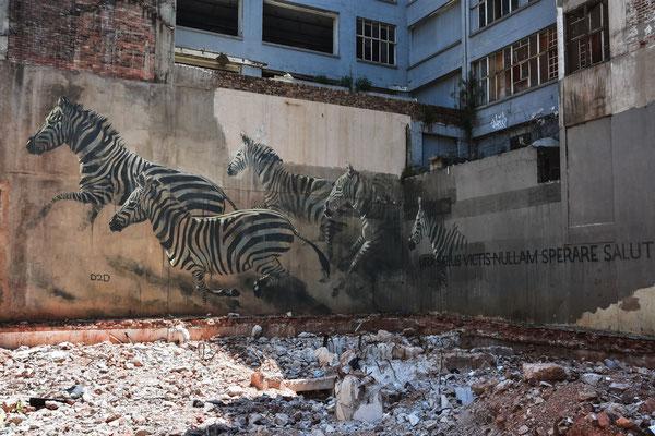 Kunst auf Häuserwänden
