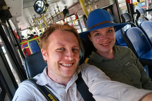 Busfahren in Joburg