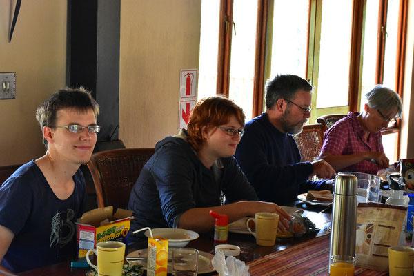 Frühstück in der ehemaligen Shibula Lodge