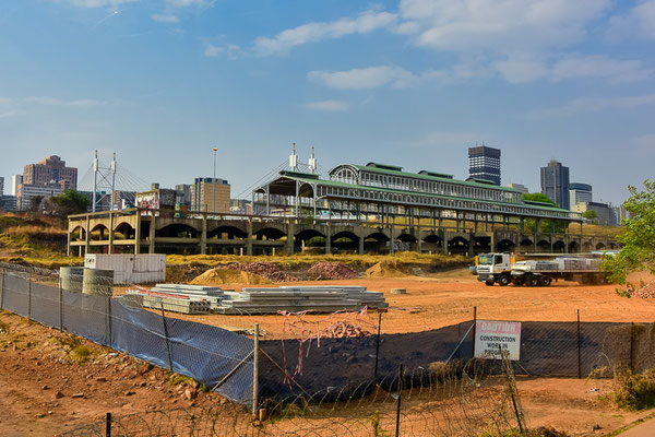 Der alte Bahnhof von Park-Station, zum Erhalt auf eine Brachfläche gezügelt.