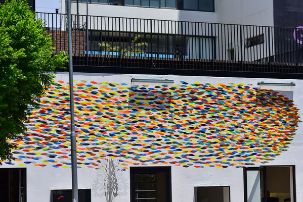 Kunst auf Häuserwand