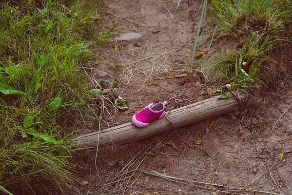 Ups, da hat jemand einen Schuh verloren