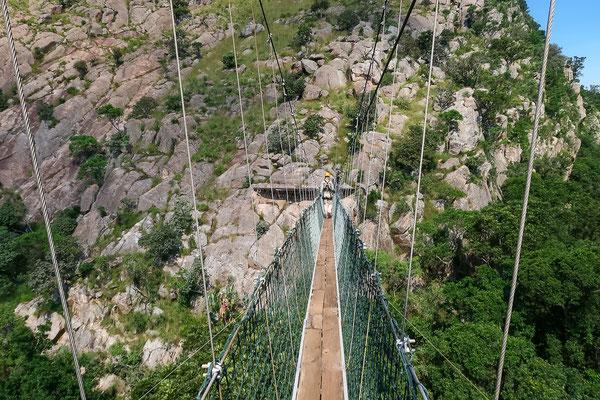 Walk über die Hängebrücke