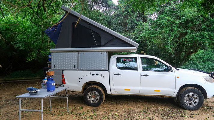 Campen am Cape Vidal