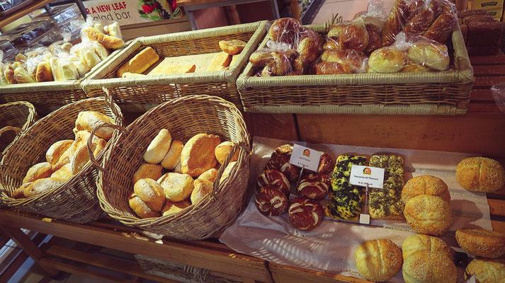 Eine gute Auswahl in der Fournos Bakery.