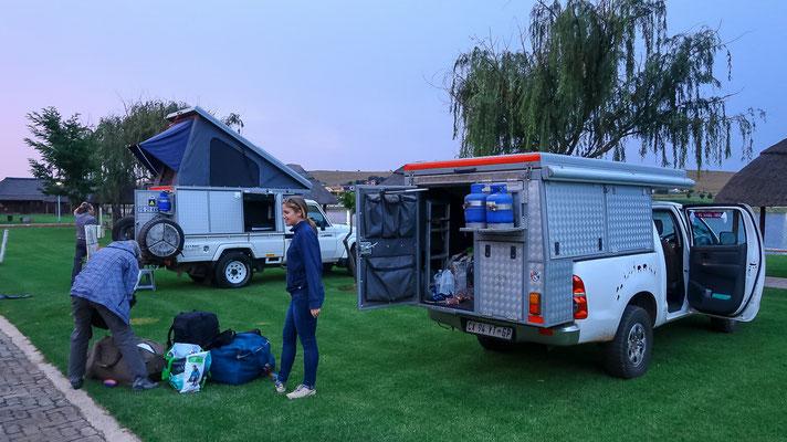 Erste Campingnacht mit Lilly Landcruiser