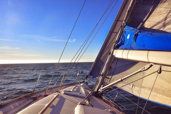 Auf der Yacht Jazzman im rauhen Wind