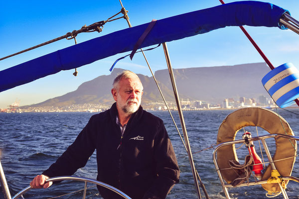 Andy war mit seiner Frau Paula für ein ganzes Jahr mit einer Segelyacht auf der Welt unterwegs