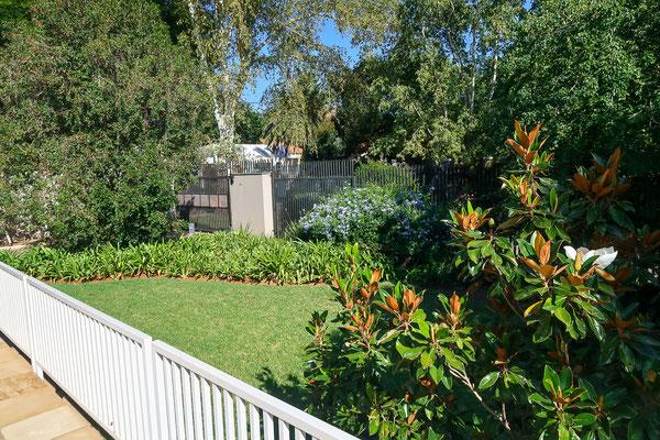 Garten unserer Airbnb Wohnung