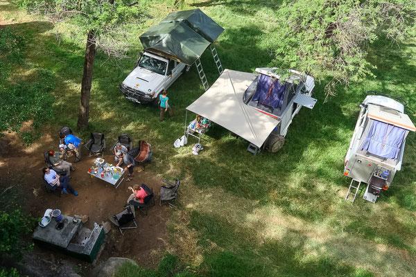 Camping von oben