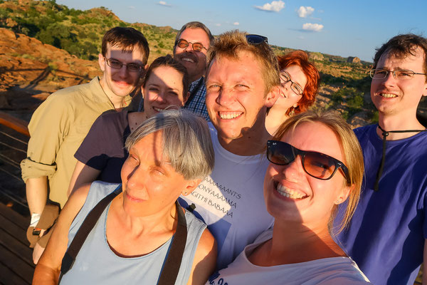 Sunset-Gruppenfoto