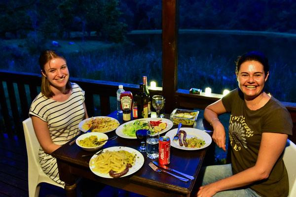 Abendessen im Magoebaskloof Getaway