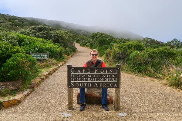 Beim Cape Point kann man in Ruhe ein Foto machen