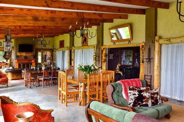 Aufenthaltsbereich im Gästehaus