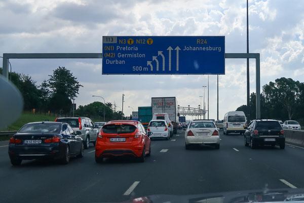 Zeitsprung: Nach zwei Wochen im restlichen SA wieder zurück nach Joburg