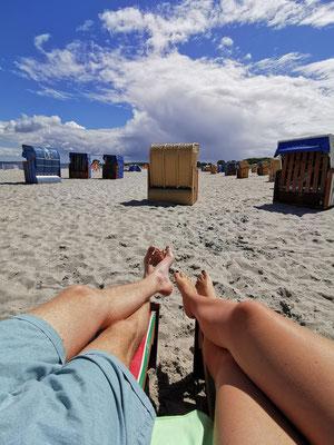 Auch hier kann man sich einen Strandkorb mieten!