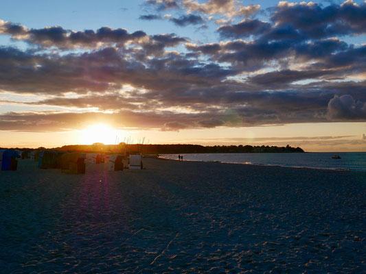 Sonnenuntergang am Sehlendorfer Strand
