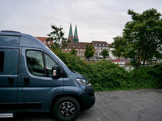Parkplatz in Lübeck