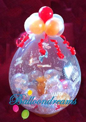 Ein Stuffed Ballon steckt voller Überraschungen