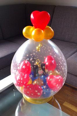 Stuffed Ballon - Jaques Lemand Uhr stilvoll verpackt