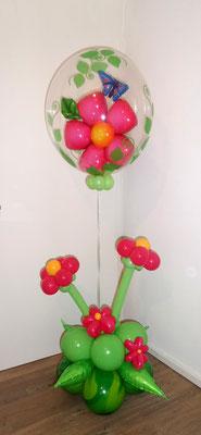 #10 - Pink Flower Bubble Arrangement